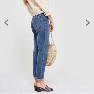 Top shop mid blue mom jeans W25L30